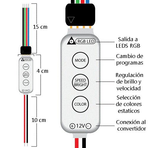 Secuenciador mini para leds RGB